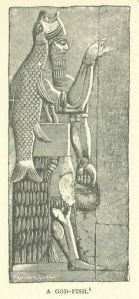 A depiction of the God Ea, or Oannes.