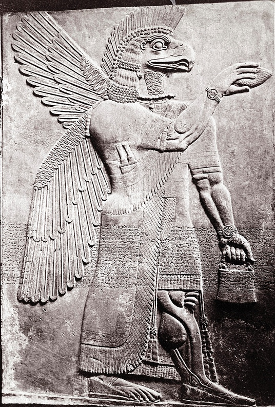 Assyria samizdat page 2 stephen thompson asshur assyrian god marble relief british museum 1872 the fandeluxe Gallery