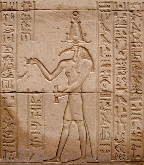 A depiction of the Egyptian god of writing, Thoth.