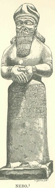 Messenger of the gods, Nebo. From a statute in the British Museum.  George Rawlinson - Source: Seven Great Monarchies Of The Ancient Eastern World, Vol 1. (1875) http://www.gutenberg.org/files/17323/17323-h/17323-h.htm#linkBimage-0018