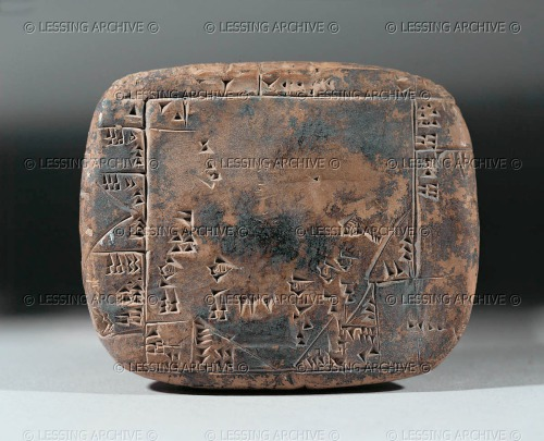 Calculation of the surface area of terrain at Umma, Mesopotamia (Iraq). Ur III Clay tablet (2100 BCE) 7 x 5.8 cm AO 5677, Louvre Museum. http://www.lessingimages.com/viewimage.asp?i=08020612+&cr=328&cl=1