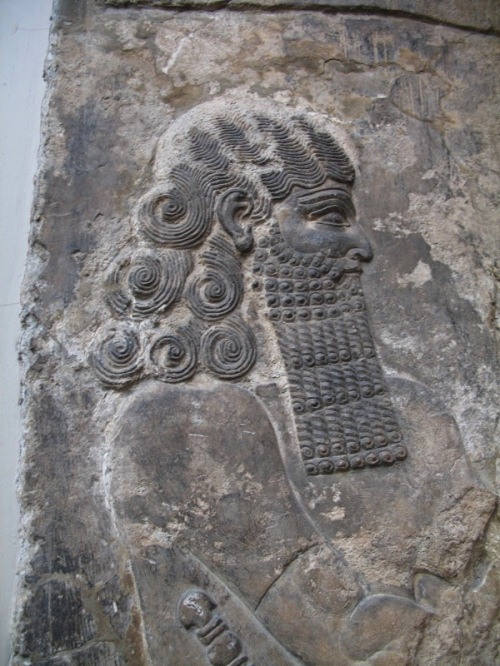 "Lahmu is an Akkadian deity, the mythological first-born son of Apsu and Tiamat. With his sister Lahamu, they were the parents of Anshar and Kishar, the father of the sky and the mother of the earth, who begat the first gods. Lahmu is depicted as a snake, or as a bearded man with six hair curls. For the Sumerians, Lahmu was ""the muddy one,"" and this title was ever after given to the gatekeeper of the Abzu temple of Enki at Eridu. As gatekeeper, he is termed Lahmu the Hairy, or sometimes ""the Hairy One.""  http://en.wikipedia.org/wiki/Lahmu"