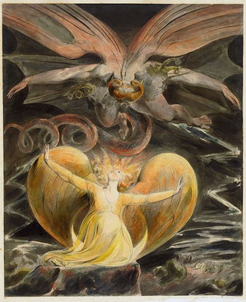 William Blake (1757–1827)  wikidata: Q41513 s:en:Author:William  Deutsch: Der große Rote Drache und die mit der Sonne bekleidete Frau Français : Le grand Dragon Rouge et la Femme vêtue de soleil Español: El gran dragón rojo y la mujer vestida de sol wikidata:Q538936 Date1805-1810 Current location: National Gallery of Art  wikidata:Q214867 Washington (D.C.) Source/PhotographerThe Yorck Project: 10.000 Meisterwerke der Malerei. DVD-ROM, 2002. ISBN 3936122202. Distributed by DIRECTMEDIA Publishing GmbH. Permission (Reusing this file) http://mail.wikipedia.org/pipermail/wikide-l/2005-April/012195.html https://commons.wikimedia.org/wiki/File:William_Blake_003.jpg