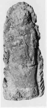"""ND 9342, Metropolitan Museum of Art, Rogers Fund, 1957. Plate XIIa. Green states that this is a """"whip-carrying human figure wearing a lion's pelt,"""" from the Nimrud series."""