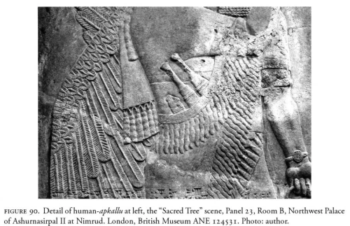 This illustration depicts girdle knives and what is alleged to be a stylized whetstone. This photograph is from p. 110, Mehmet-Ali Atac, The Mythology of Kingship in Neo-Assyrian Art, Cambridge University Press, 2010.