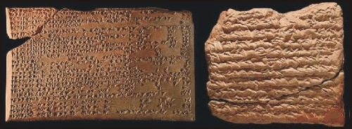"Enuma Anu Enlil is a series of about 70 tablets dealing with Babylonian astrology. These accounts were found in the early 19th century by excavation in Nineveh, near present day Bagdad. The bulk of the work is a substantial collection of omens, estimated to number between 6500 and 7000, which interpret a wide variety of celestial and atmospheric phenomena in terms relevant to the king and state. The tablets presumably date back to about 650 BC, but several of the omens may be as old as 1646 BC. Many reports are ""astrometeorological"" forecasts (Rasmussen 2010).<br />  http://www.climate4you.com/ClimateAndHistory%205000-0%20BC.htm"