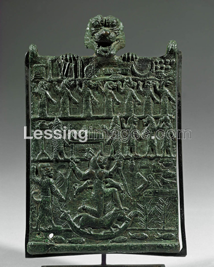 This is the actual bronze frieze from which the illustration above is extracted, held in the collection of the Louvre as AO 22205.
