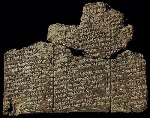 "A fragment of The Eridu Genesis. <br />  The earliest recorded Sumerian creation myth is The Eridu Genesis, known from a cuneiform tablet excavated from Nippur, a fragment from Ur, and a bilingual fragment in Sumerian with Akkadian, from the Library of Ashurbanipal dated 600 BCE. The main fragment from Nippur (depicted above) is dated to 1600 BCE. <br />  http://etcsl.orinst.ox.ac.uk/cgi-bin/etcsl.cgi?text=t.1.7.4# <br />  https://en.wikipedia.org/wiki/Sumerian_creation_myth <br />  It was Thorkild Jacobsen who named this fragment. As he says, ""…it deals with the creation of man, the institution of kingship, the founding of the first cities and the great flood. Thus it is a story of beginnings, a Genesis, and, as I will try to show in detail later, it prefigures so to speak, the biblical Genesis in its structure. <br />  The god Enki and his city Eridu figure importantly in the story, Enki as savior of mankind, Eridu as the first city. Thus ""The Eridu Genesis"" seems appropriate."" <br />  In a footnote, Jacobsen observes, ""The tablet was found at Nippur during the third season's work of the Expedition of the University of Pennsylvania (1893-6) but was not immediately recognized for what it was. The box in which it was kept was labeled ""incantation."" Thus it was not until 1912, when Arno Poebel went through the tablet collection, that its true nature was discovered."" <br />  He continues, ""Poebel published it in hardcopy ... and furnished a transliteration, translation and penetrating analysis .... He convincingly dated the tablet (pp. 66-9) on epigraphical and other grounds to the latter half of the First Dynasty of Babylon."" <br />  ""Little further work of consequence was done on the text for thirty-six years—a detailed bibliography may be found in Rykle Borger, Handbuch der Keilschriftliteratur I (Berlin: de Gruyter, p. 411 ... but in 1950 Samuel N. Kramer's translation was published in ANET (pp. 43-4) and again, almost twenty years later, Miguel Civil restudied the text in his chapter on Atra-hasīs (pp. 138-47). <br />  The interpretation here offered owes much to our predecessors, far more than would appear from our often very different understanding of the text."" <br />  https://books.google.co.uk/books?id=g5MGVP6gAPkC&pg=PA129&dq=Eridu+Genesis.+Nippur&hl=en&sa=X&ved=0CCEQ6AEwAGoVChMI4ImL2PiCxwIVhNWACh01nwD6#v=onepage&q=Eridu%20Genesis.%20Nippur&f=false"