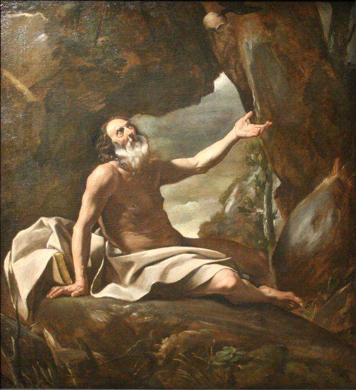 Giovanni Lanfranco (1582-1647 CE), Elie nourri par le corbeau, 1624-5 CE. Oil on canvas, held at the Musée des Beaux-Arts de Marseille, Accession number BA 451, photographed by Rvalette.  This faithful photographic reproduction of an original two-dimensional work of art is in the public domain where the copyright term is the author's life plus 100 years or less.