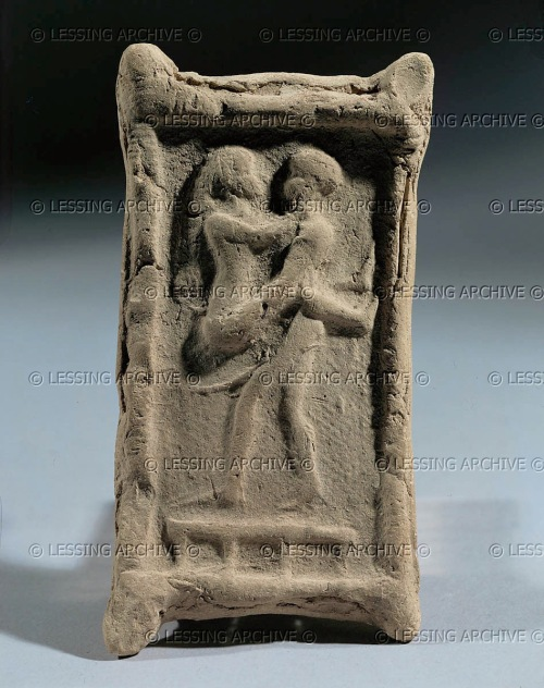 Hierogamus, bed and couple. Period of the Amorite dynasties, early 2nd millennium BCE Baked clay, H: 11,3 cm AO 8662, Louvre.  http://www.lessingimages.com/viewimage.asp?i=08021112+&cr=413&cl=1#