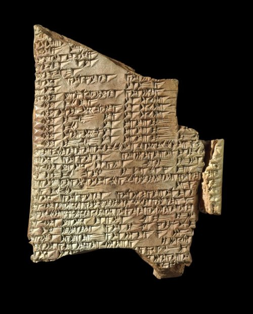British Museum K. 19530, Library of Ashurbanipal (reigned 669-631 BCE), excavated from Kouyunjik by Austen Henry Layard. Neo-Assyrian 7th Century BCE, Nineveh.  This cuneiform tablet details the legend of Etana, a mythological king of Kish.  http://www.britishmuseum.org/research/collection_online/collection_object_details.aspx?objectId=287204&partId=1&searchText=WCT28297&page=1 http://www.britishmuseum.org/explore/highlights/highlight_objects/me/c/cuneiform_the_legend_of_etana.aspx This image is released under a Creative Commons Attribution-NonCommercial-ShareAlike 4.0 International (CC BY-NC-SA 4.0) license.