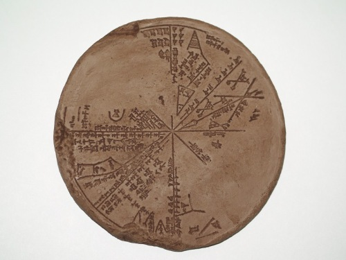 The Neo-Assyrian star map K 8538, from H. Hunger, ed., Astrological Reports to Assyrian Kings (SAA 8, Helsinki: Helsinki University Press: 1992), p. 46.<br /> K8538 is held in the British Museum collection, excavated by Austen Henry Layard from the Library of Ashurbanipal in Nineveh.<br /> The curator's comments state that the text and depicted constellations are interpreted in Koch, 1989.<br /> A celestial planisphere with eight sections, representing the night sky of 3-4 January 650 BCE over Nineveh.<br /> Also Figure 1, Gebhard Selz, Of Heroes and Sages, p. 785. http://www.britishmuseum.org/research/collection_online/collection_object_details.aspx?objectId=303316&partId=1