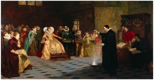 John-Dee-painting-originally-had-circle-of-Human-Skulls-X-Rays-Show