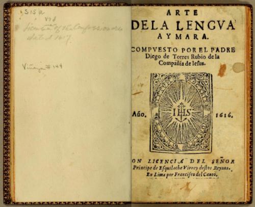 Diego de Torres Rubio de la Copania de Jesus, 1616