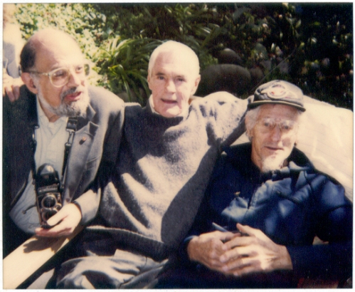 Allen Ginsberg, Timothy Leary, John C. Lilly, Easter Sunday 1991, home of Dr. Oscar Janiger, Photo by Philip H. Bailey
