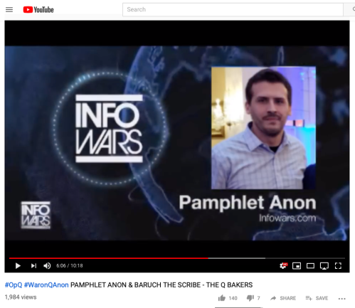 Q Coleman Rogers PamphletAnon Full Face Depicted YT Vid by BaruchtheScribe on InfoWars