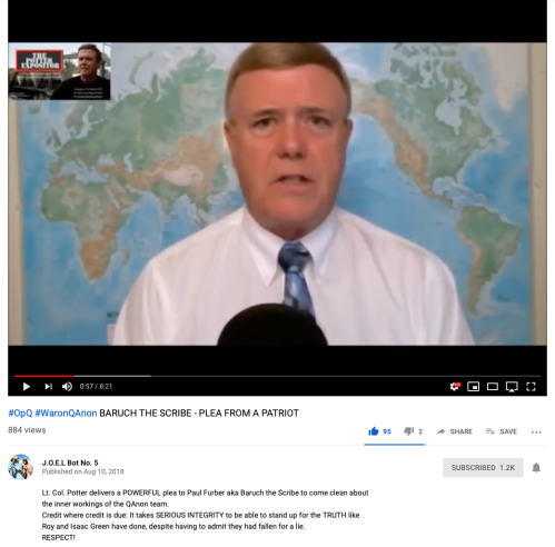 Q LTC Roy Potter ScreenShot Appeal to Baruch Paul Furber Aug 10 2018