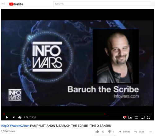 Q Paul Furber BaruchtheScribe InfoWars Vid Screen Grab Full Face