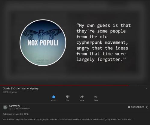 Cicada Cypherpunk Nox Populi May 20 2018
