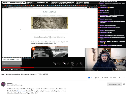Cicada Defango YouTube Reviews Lestat Article 1-18-29 Timestamp August 13, 2019
