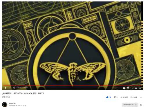 Cicada Lestat gHOST Talk Part 1 June 30 2019 Pentagrams Illustrations