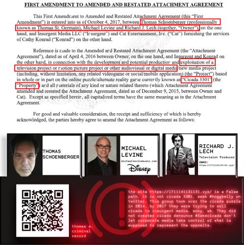 Cicada Lestat TS Levine Lech Insurgent Media SONY TS Criminal Record