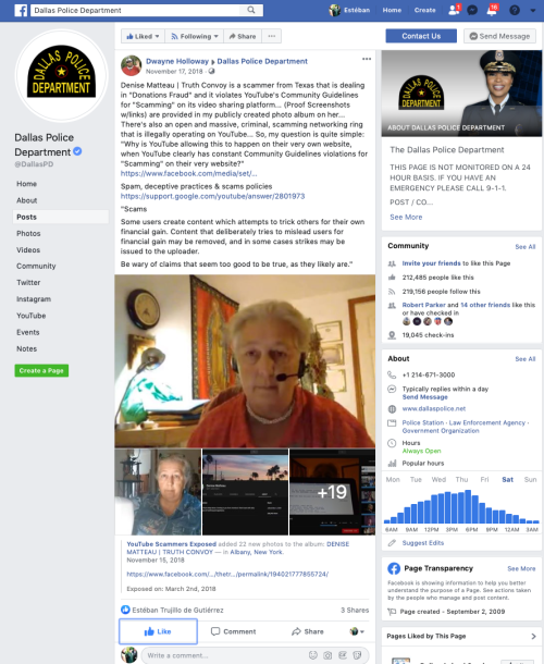 Denise Matteau Dallas PD Blue Checkmark No Dwayne Holloway Aug 17 2019
