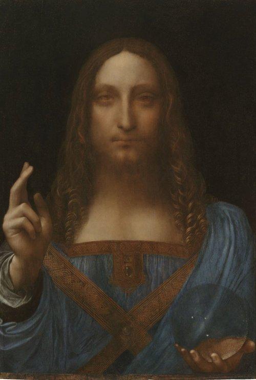 Leonardo da Vinci (1452-1519), Salvator Mundi, Oil on Panel, Private Collection, copyright 2011 Salvator Mundi LLC Photo Tim Nighswander, Imaging4Art