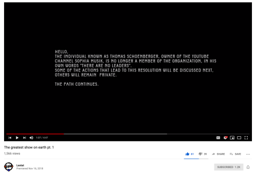 Q Schoenberger Banned Cicada Greatest Show on Earth Nov 16, 2018 Lestat YT