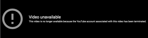 YouTube 404 Video Unavailable Banner