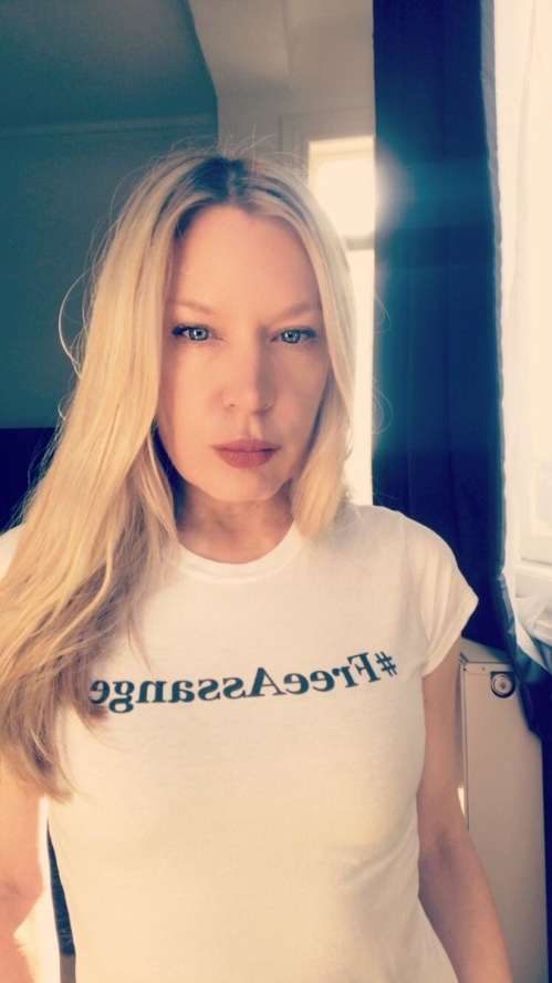 Beth Bogaerts Self Portrait Evil Looking Blonde Nov 1 2018