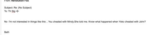 Beth Melissa Blackburn Bogaerts to TS Yoko Cheated With John, nd
