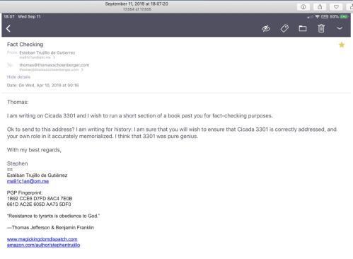 Cicada TS Email April 10 2019