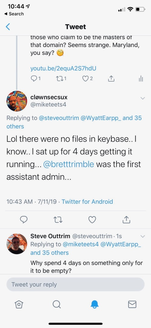 ClownSecSux Isaac Kappy KeyBase DeadMan's Switch Dry Hole Steve Outtrim July 11 2019!!!!