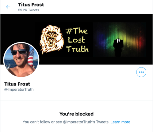 Dean Fougere Pussy Blocks Me on Twitter Oct 6 2019