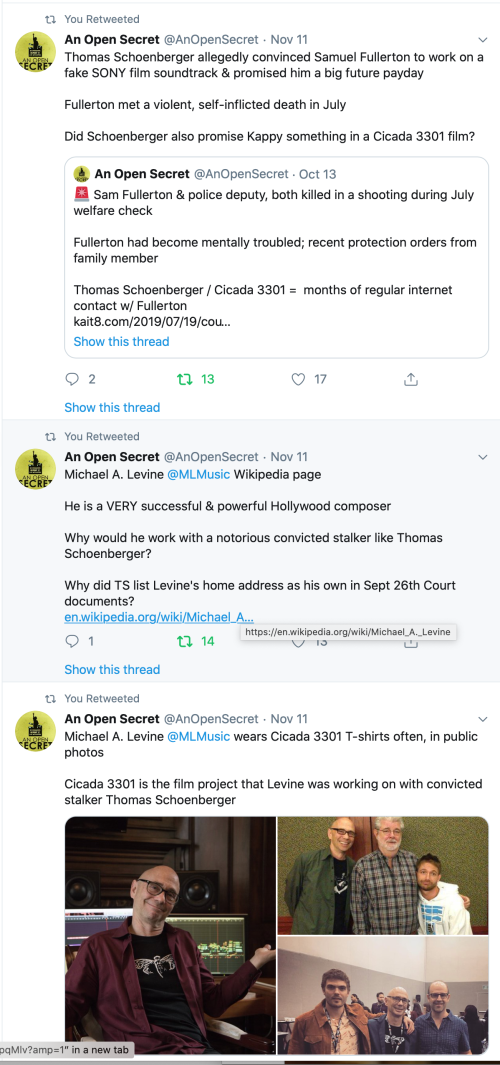 Gabe Hoffman Tweets Michael Levine TS Schoenberger Samuel Fullerton Isaac Kappy NOW McQuaid? 2019-12-29