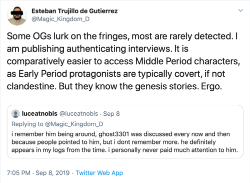 Me Tweet luceatnobis brotherBox Hypocritical Confirmation of gHOST Sept 8 2019