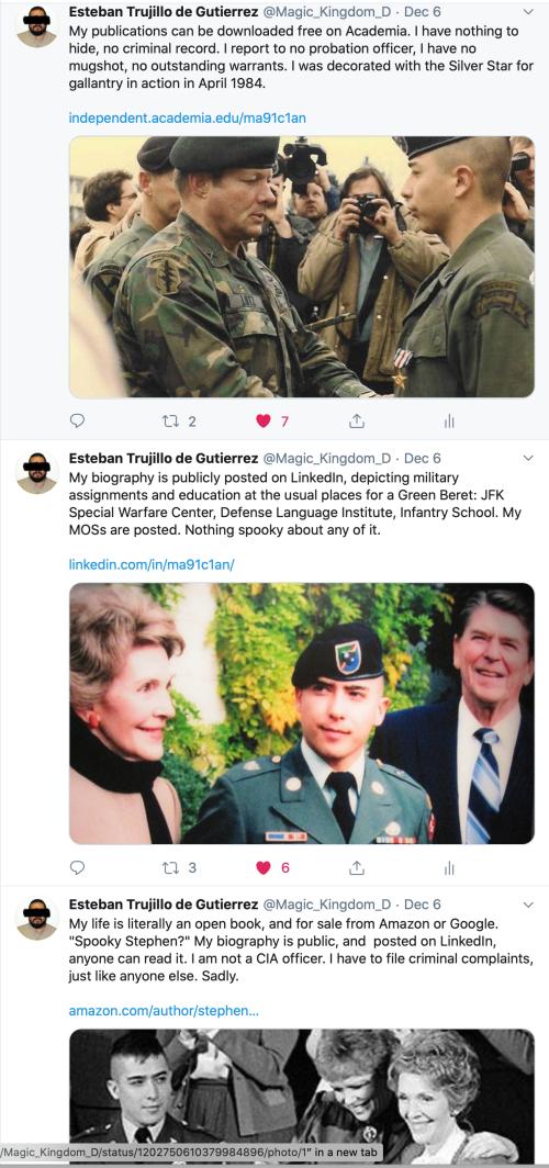 Me Tweets Public Bio LinkedIn Nothing to Hide Dec 6 2019