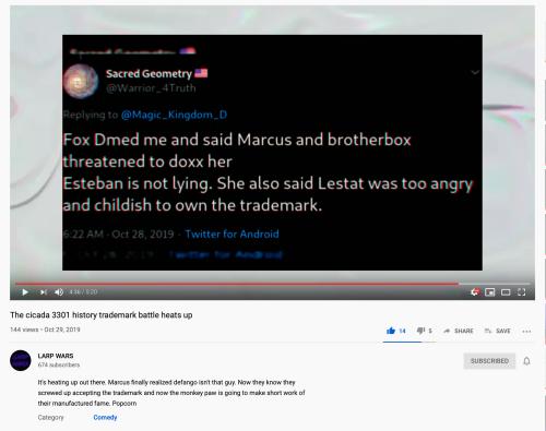 Sacred Geometry Fox DM Marcus & box Doxxing Her Esteban Not Lying