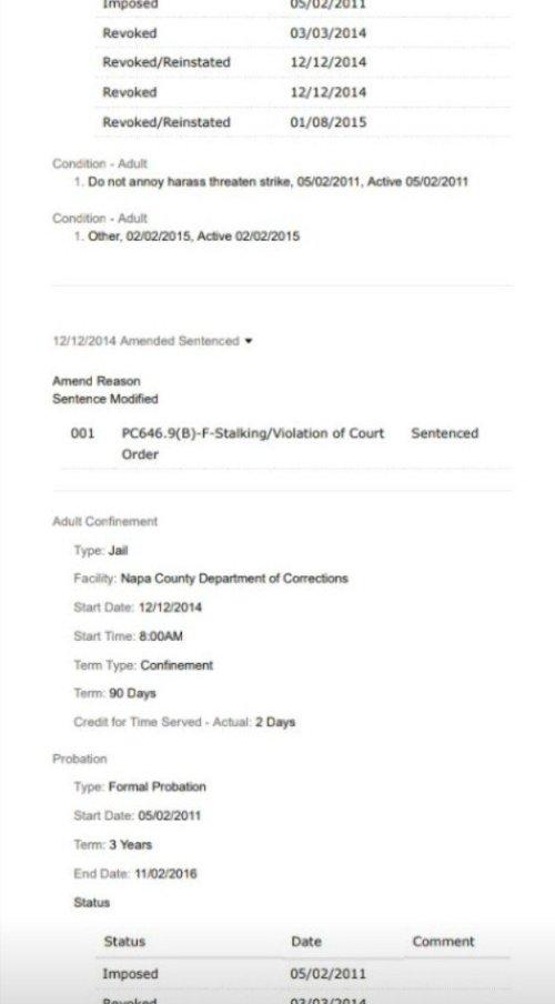 Thomas Schoenberger Case CR155849 Felony Stalking 2011-4