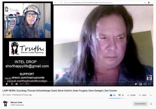 Thomas Schoenberger Full Face Portrait Courtesy Marcus Conte LARP News YT Video Nov 14 2019
