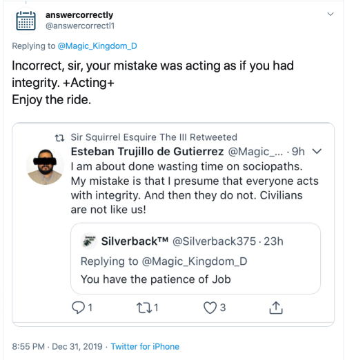 Twitter Threats answercorrectly @answercorrectl1 Dec 31 2019 2019-12-31