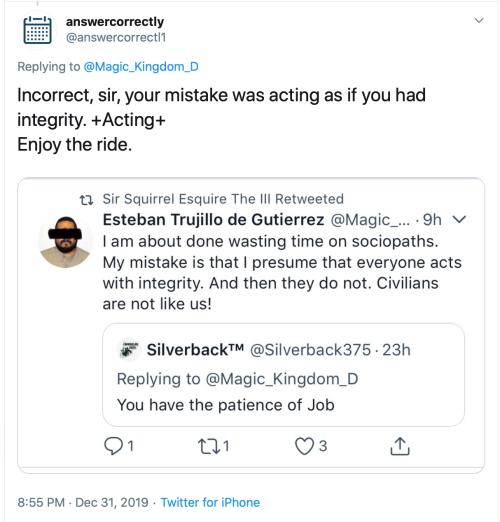 Twitter Threats answercorrectly @answercorrectl1 Dec 31 2019 2019-12-31