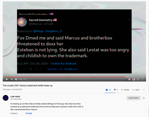 Sacred Geometry Fox DM Marcus & box Doxxing Her Esteban Not Lying
