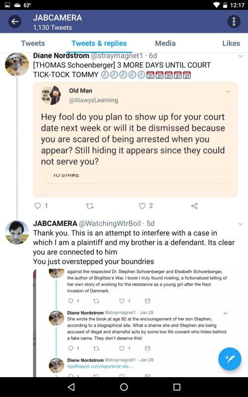 TS Evading Legal Service Jesse September 3 2019 Twitter Diane Nordstrom